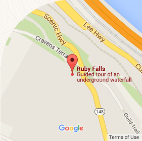 Ruby Falls Google Map